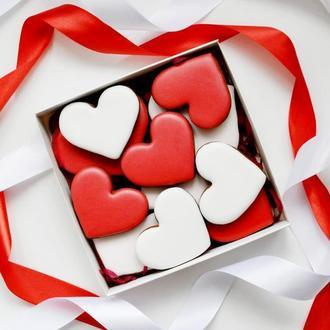 Набор пряников ко Дню Святого Валентина. Пряник сердце.