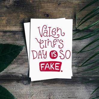"Открытка ""Love is fake"""
