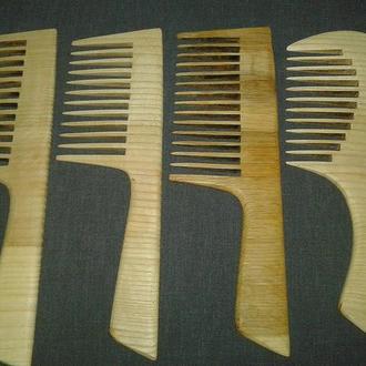 Гребень деревянный для волос большой с ручкой