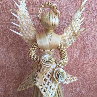 Ангел роза из соломы