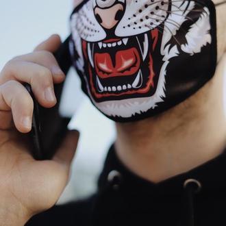 Маска багаторазова Тигр, Прикольний принт, маска для обличчя