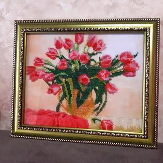 Картина бисером Тюльпаны Цветы вышивка бисером