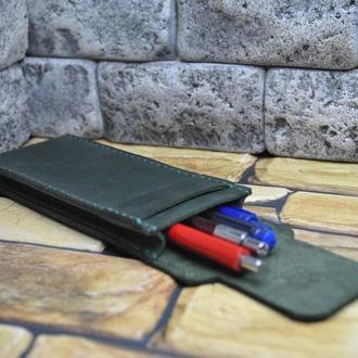 Кожаный пенал для ручек R01-350