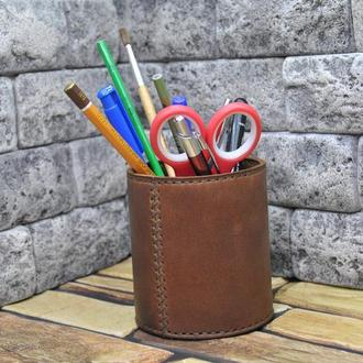 Стакан из кожи для карандашей и ручек ST01-210