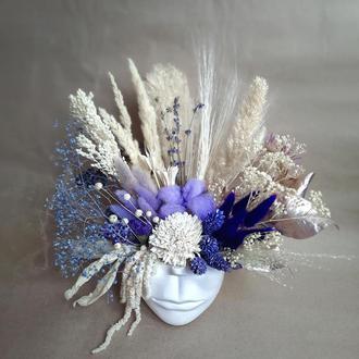 Цветы Сухоцветы Букеты из сухоцветов Свадебный букет невесты аксессуары и декор
