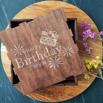 Подарочные коробки, деревянная подарочная коробка с гравировкой