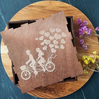 Подарочные коробки, деревянная подарочная коробка с гравировкой (6 размеров)