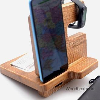 Деревянная настольная подставка для телефона Айфона, телефона, смартфона