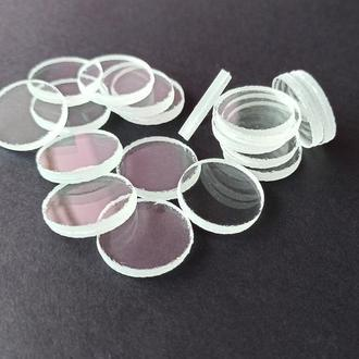 Круглые заготовки из прозрачного стекла для декупажа, мозаики и поделок. Круглое стекло для декупажа