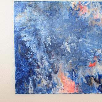 Deep ocean Fluid art