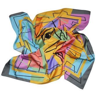 """Дизайнерский шелковый платок """"Яркие сны"""""""