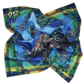 """Дизайнерский шелковый платок """"Вид на Рио-де-Жанейро"""""""