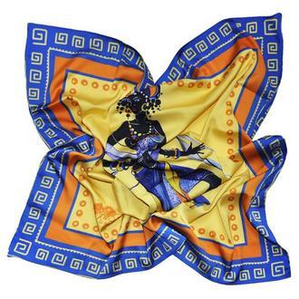 """Дизайнерский шелковый платок """"Африканские мотивы"""""""