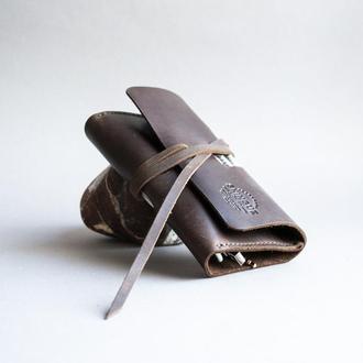 Органайзер для зарядних пристроїв, кабелів, навушників темно-коричневий