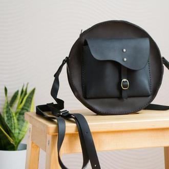 Авторская женская кожаная сумка.