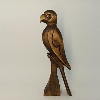 Папуга фігурка 7,9 «дерев'яний папуга, подарунковий папуга, статуетки абстрактні, Статуетка прикраси