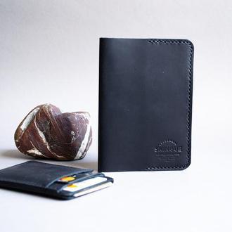 Обложка для паспорта + кардхолдер комплект, Чорный