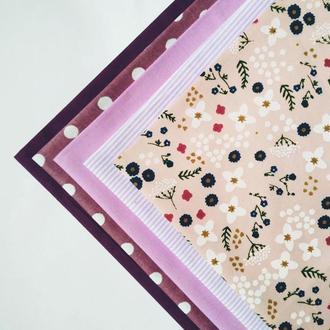 Набор ткани для рукоделия Ягодный щербет из 5шт.