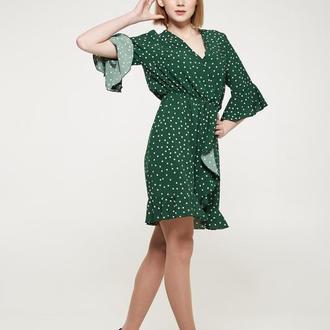 Женское платье BE UNlQUE Зеленое в горох