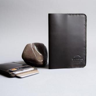 Обложка для паспорта + кардхолдер комплект, темнокоричневый