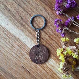 """Брелок для ключей, брелок с гравировкой """"Love"""" Любовь"""