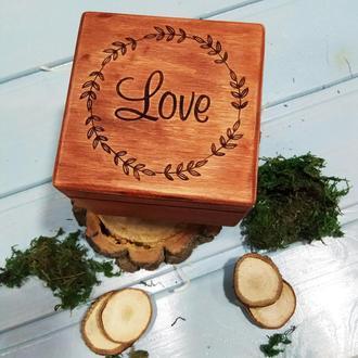 Деревянная шкатулка ′Рустик_love′