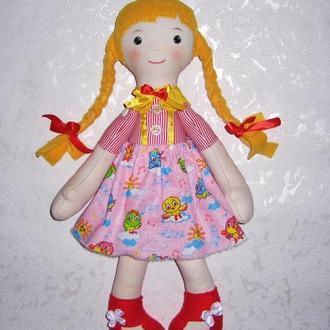 Мягкая тряпичная кукла для малышей, ручная работа