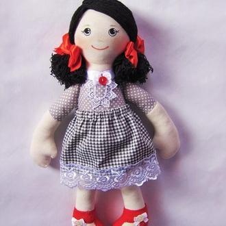 Тряпичная мягкая кукла для малышей