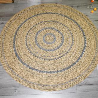 Килимок (150cм), килимок з джуту з сірими вставками