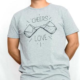 "Мужская футболка с авторским принтом ""Cheers Love"""