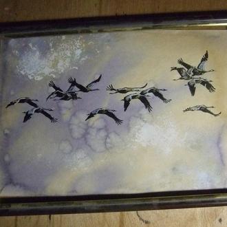 Ой, летіли дикі гуси. Рисунок, 2021г Автор - Мишарева Наталья
