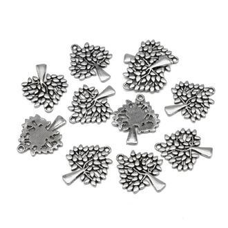 Кулон Древо Жизни античное серебро, размер 29х23.5х2мм, 1 уп -2 шт