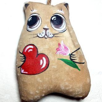 Кот кофейный. Подарок ко Дню Святого Валентина и на 8 марта