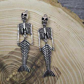 Великий кулон підвіска скелет русалки