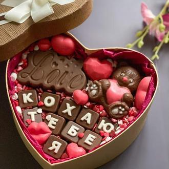 Шоколадный подарок ко дню влюбленных 14 февраля (день Святого Валентина)