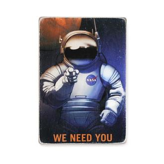 "Деревянный постер Wood Posters ""NASA needs you"""