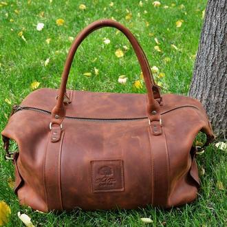 Дорожная/спортивная сумка из натуральной кожи