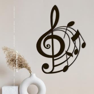 """Деревянная картина-панно """"Music notes"""""""