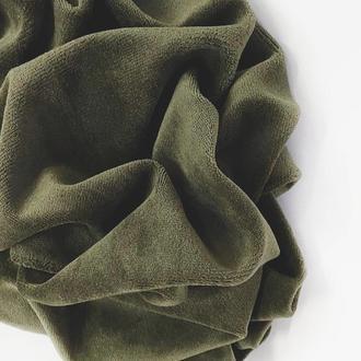 Ткань велюр хлопок для рукоделия хаки