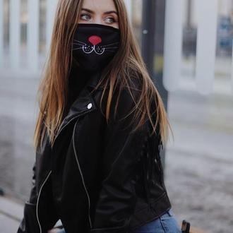 Багаторазова жіноча маска Чорна киця