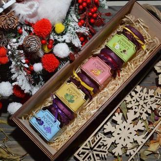 Подарочный набор из 4-х джемов Натуральный Продукт Без ГМО POZZY