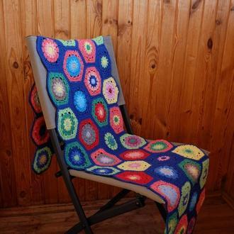 Подстилка на стул  вязаная крючком