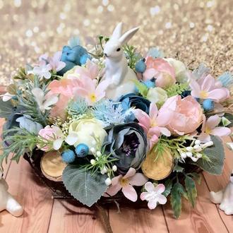 Пасхальная весенняя летняя композиция пасхальный венок Великодня композиція великодній вінок