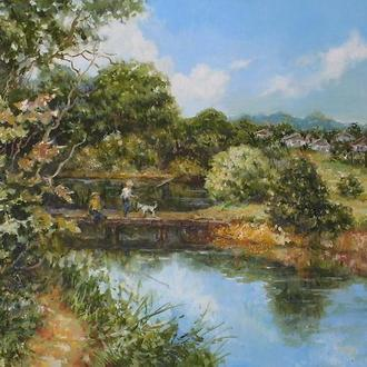 """Картина """"Біля річки"""""""