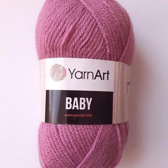 Пряжа нитки для вязания для детей BABY Yarnart 100% акрил. 50 грам лиловая темная 560