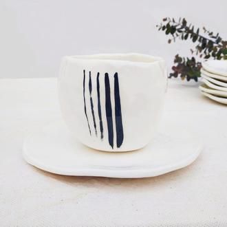 Чашка с блюдцем 270 мл. Фаянс