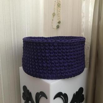 Декоративная корзинка крючком