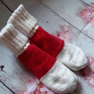 Вязаные шерстяные носки ручная работа размер 35-36