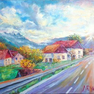 """Современная картина """"Солнечная осень в Швейцарії"""""""