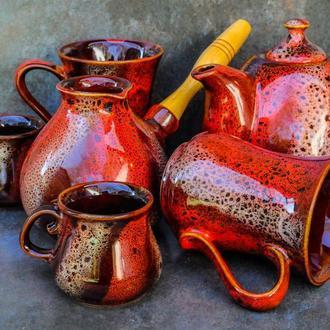Сервіз чайно-кавовий Крапля на 2 особи декор Дзиґа